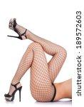 sexy female legs in net... | Shutterstock . vector #189572603