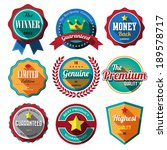 set of retro vintage badges and ... | Shutterstock .eps vector #189578717