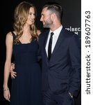 Small photo of NEW YORK, NY - APRIL 26: Adam Levine and Behati Prinsloo attend the closing night gala premiere of 'Begin Again' during the 2014 Tribeca Film Festival at BMCC Tribeca PAC