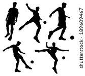 silhouette of soccer football... | Shutterstock .eps vector #189609467