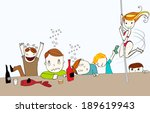 vector hand drawn style cute... | Shutterstock .eps vector #189619943