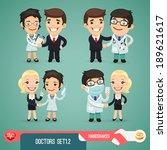doctors cartoon characters set1.... | Shutterstock .eps vector #189621617
