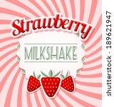 strawberry milkshake label in... | Shutterstock .eps vector #189621947