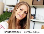 cute  attractive woman with... | Shutterstock . vector #189634313