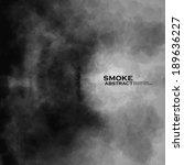 smoke vector background.... | Shutterstock .eps vector #189636227