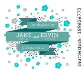 vector wedding invitation card... | Shutterstock .eps vector #189636773