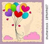 illustration of cute... | Shutterstock . vector #189649607