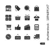 Shopping   Market Icons On...