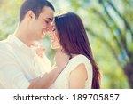 happy smiling couple in love | Shutterstock . vector #189705857