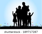 family silhouettes | Shutterstock .eps vector #189717287