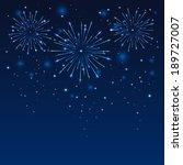 shiny firework on the dark blue ...   Shutterstock . vector #189727007