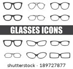 glasses icons on white... | Shutterstock .eps vector #189727877