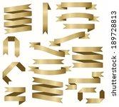 gold ribbons | Shutterstock .eps vector #189728813