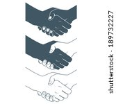 illustration of  handshake.... | Shutterstock . vector #189732227