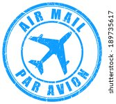 air mail stamp | Shutterstock .eps vector #189735617