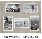 1930s photo album with rough... | Shutterstock . vector #189748253