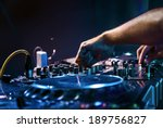 dj mixes the track in the... | Shutterstock . vector #189756827