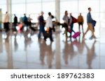 a large group of arriving... | Shutterstock . vector #189762383
