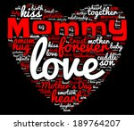 mommy word cloud concept... | Shutterstock . vector #189764207