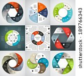 Vector circle infographics set. Template for diagram, graph, presentation and chart. Business concept with six options, parts, steps or processes. Abstract background.