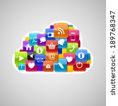 cloud computing icon. vector... | Shutterstock .eps vector #189768347