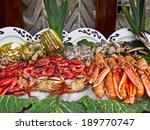 seafood. prepared shellfish.... | Shutterstock . vector #189770747