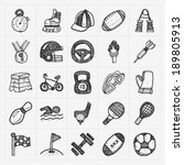 doodle sport icons | Shutterstock .eps vector #189805913