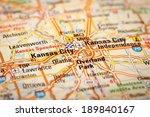 map photography  kansas city on ... | Shutterstock . vector #189840167
