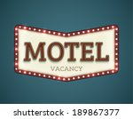 retro american motel roadsign.... | Shutterstock .eps vector #189867377