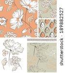 summer floral seamless patterns ... | Shutterstock .eps vector #189882527