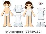 Nurse Paper Dolls   Vector