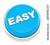 render of easy button  isolated