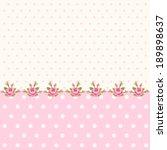 vintage polka dots background... | Shutterstock . vector #189898637