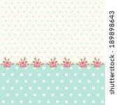 vintage polka dots background... | Shutterstock .eps vector #189898643
