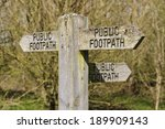 Public Footpath Sign Pointing...