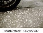 Hailstone On Concrete Floor