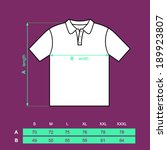 t shirt polo men back and front.... | Shutterstock .eps vector #189923807