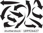 arrows icon set. vector  | Shutterstock .eps vector #189926627
