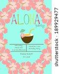 hawaiian luau party | Shutterstock .eps vector #189929477
