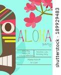 hawaiian luau party | Shutterstock .eps vector #189929483