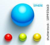 set of balls bright colors....