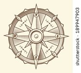 vintage graphic compass... | Shutterstock . vector #189947903