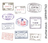 passport stamps. set 2 | Shutterstock .eps vector #189949763