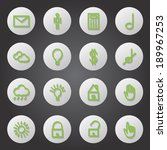 flat icons set   isolated on...