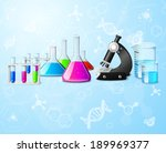 Постер, плакат: Scientific chemistry physics research