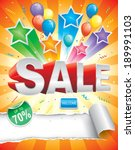 sale design template with... | Shutterstock .eps vector #189991103