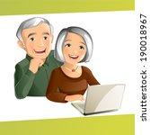 grand parents | Shutterstock .eps vector #190018967