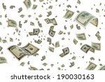 money is flying in the air. | Shutterstock . vector #190030163