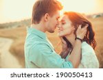 young couple in love outdoor... | Shutterstock . vector #190050413
