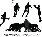 rugby player collection   vector | Shutterstock .eps vector #190061027